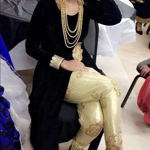 Velvet black and gold